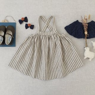 <img class='new_mark_img1' src='https://img.shop-pro.jp/img/new/icons14.gif' style='border:none;display:inline;margin:0px;padding:0px;width:auto;' />SOOR PLOOM - Eloise Pinafore / Ticking Stripe