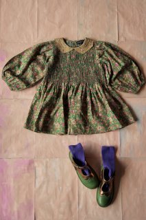 <img class='new_mark_img1' src='https://img.shop-pro.jp/img/new/icons14.gif' style='border:none;display:inline;margin:0px;padding:0px;width:auto;' />Bonjour Tunique tunic / Small green flowers
