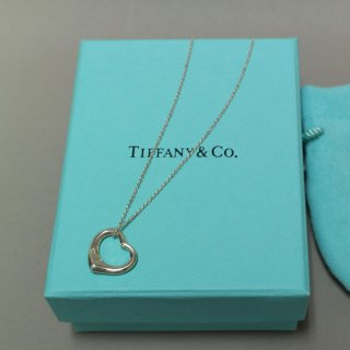 <img class='new_mark_img1' src='https://img.shop-pro.jp/img/new/icons5.gif' style='border:none;display:inline;margin:0px;padding:0px;width:auto;' />TIFFANY&CO. ティファニー/ネックレス エルサ ペルッティ オープンハート シルバー 925 ペンダント 120