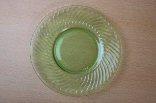 スパイラル ランチャンプレート ウランガラス