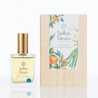 【送料無料】 ピュアトリートメントパフューム ライトブルー -日本の橙とバニラの香り- ブレンドに合う香りのサンプル付き