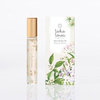 ロールオンパフュームオイル ホワイト 〜ネロリとジャスミン、高野槇の香り〜 白翡翠入り