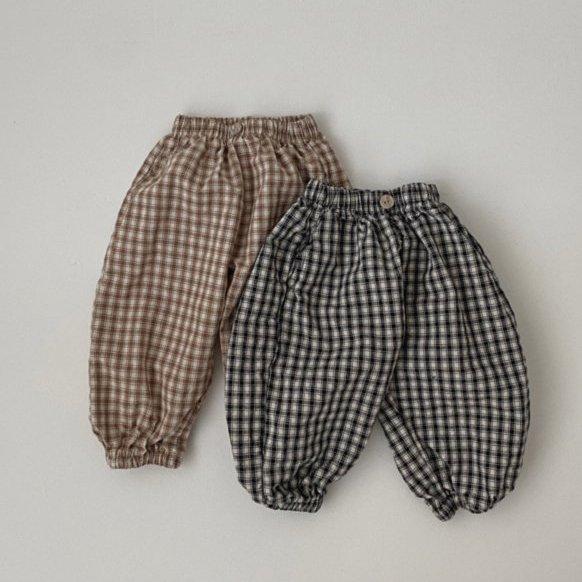 春新作/(OB)ぽってりチェックパンツ【お取り寄せ】