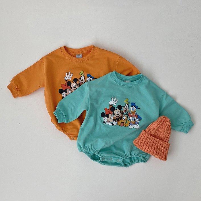 春新作/(OB)ディズニースウェットロンパース【お取り寄せ】