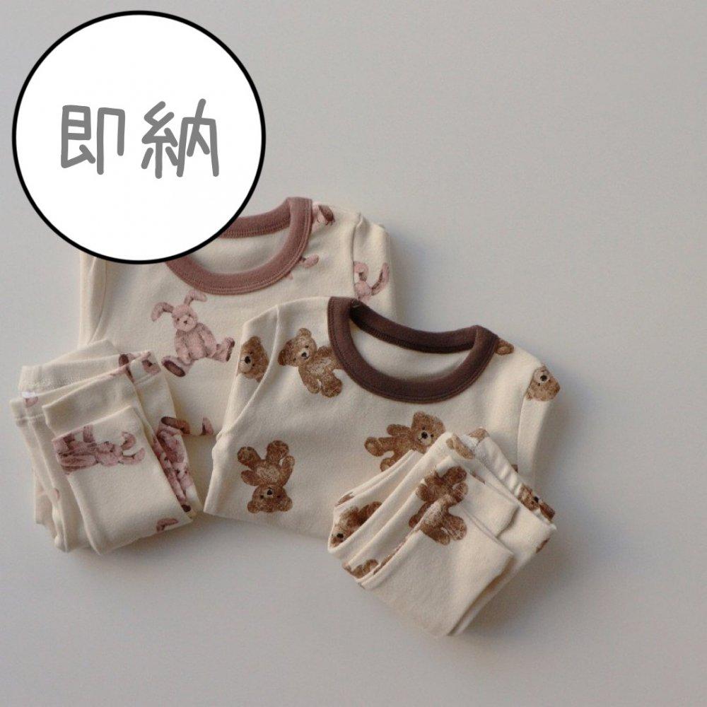 【即納商品】PKA)ぬいぐるみルームウェア(くまさん・うさちゃん)