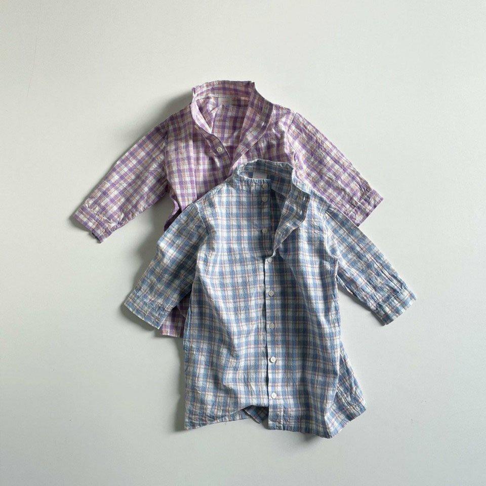 春新作/(DGR)チェックローブシャツ【お取り寄せ】
