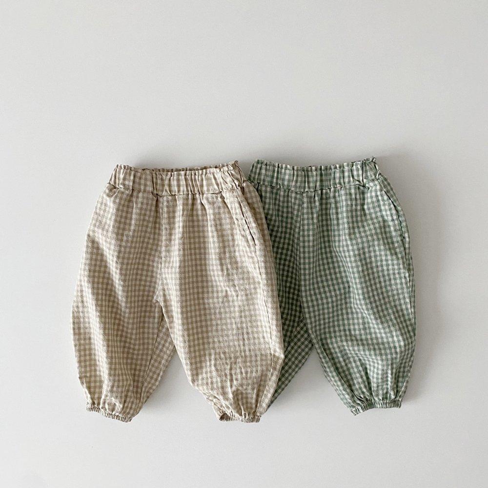 春新作/(RD)チェックウィンナーパンツ【お取り寄せ】