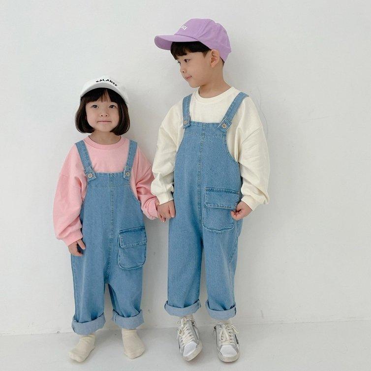 春新作/(BIB)デニムサロペット【お取り寄せ】