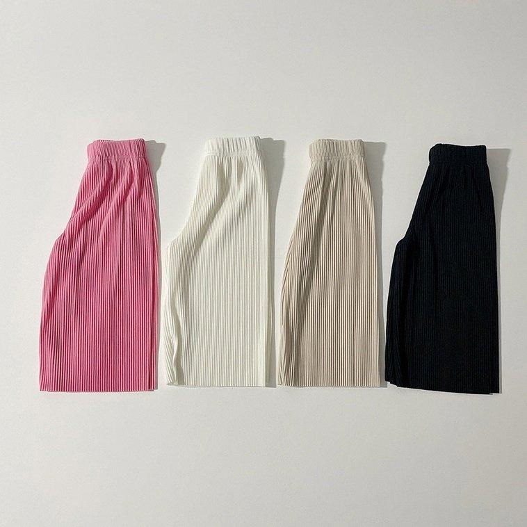 春新作/(BIB)プリーツ楽ちんパンツ【お取り寄せ】