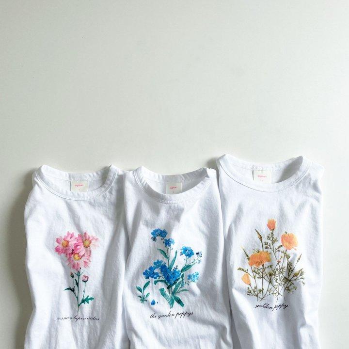 夏新作/(DGR)シンプルなお花T【お取り寄せ】