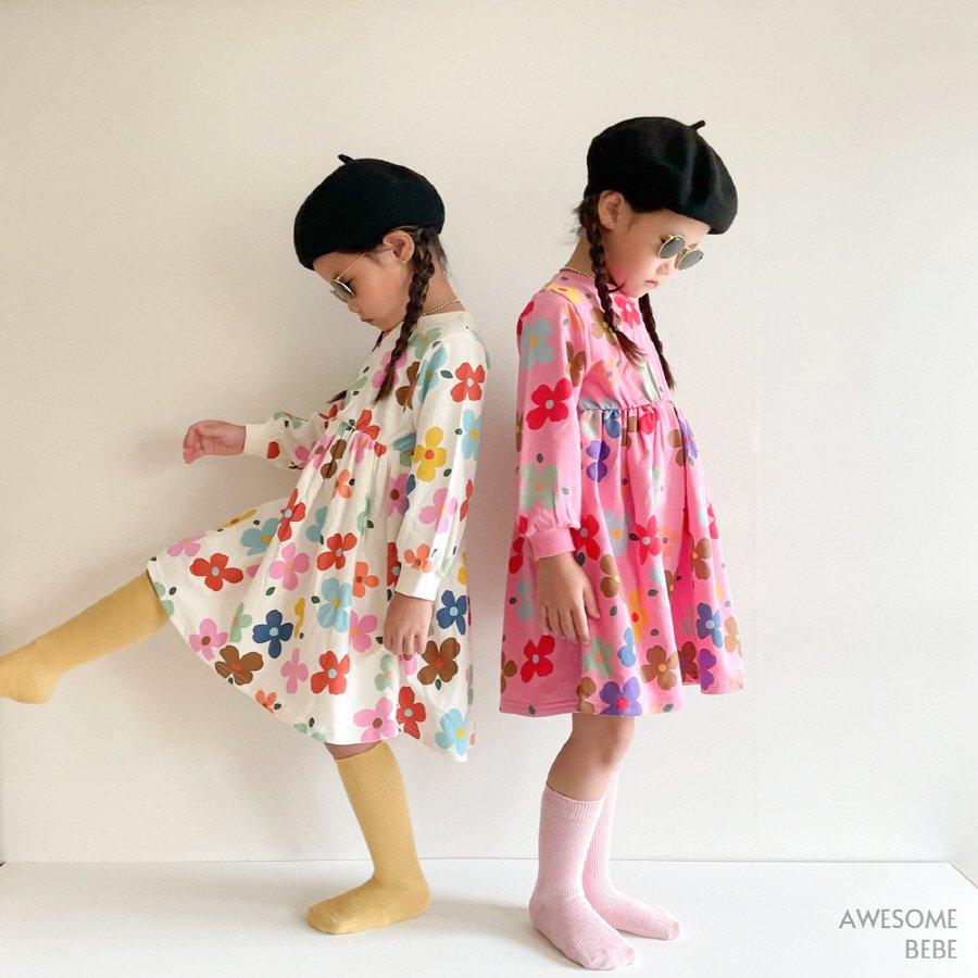 (OSB)candyフラワーワンピース【お取り寄せ】