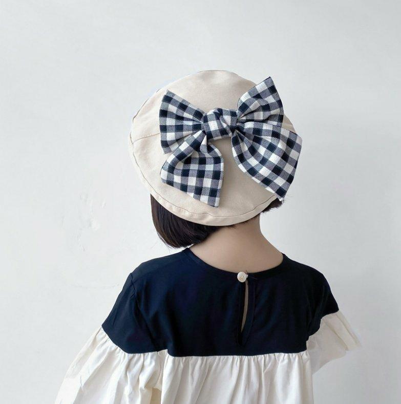 (MSO)チェックリボンベレー帽【お取り寄せ】