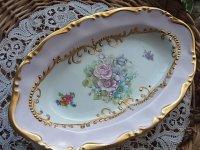 Limogesのローズ皿
