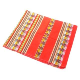 アンデス伝統織物アワヨ布 / 赤地 [ペルー製]