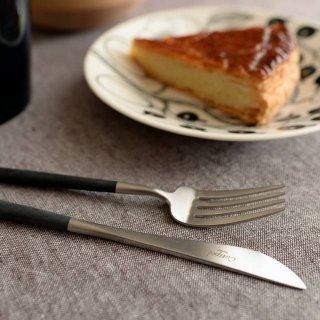 クチポール GOA デザート3点セット(デザートナイフ・フォーク・スプーン) ブラック マットシルバー