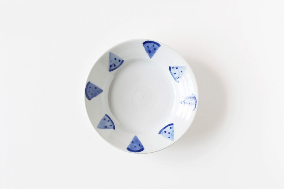 日下華子/すいか/5.5寸皿(直径16.5cm)