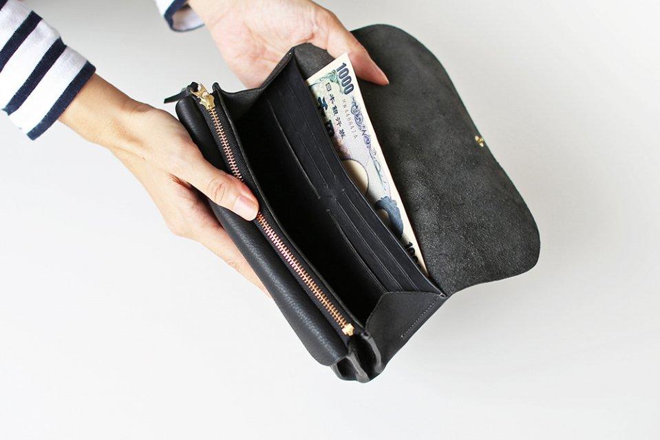 CINQ/長財布(ブラック)