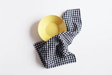 fog linen work/リネンキッチンクロス/チェック(ネイビー)