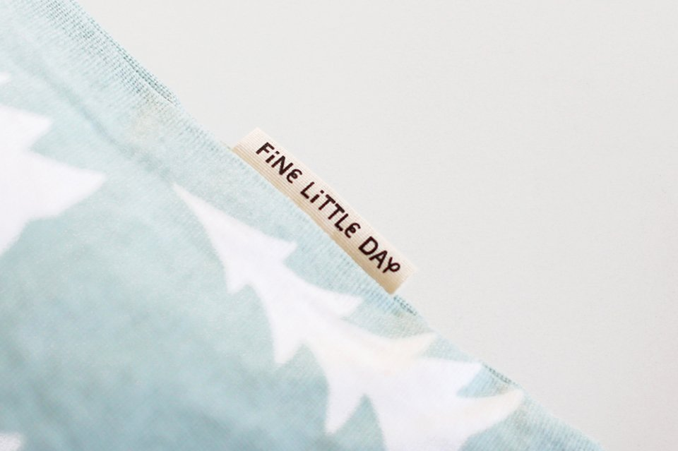 Fine Little Day/モミの木/クッションカバー(セージグリーン)