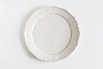 【次回再入荷時期未定】阿部慎太朗/花形リム皿 8寸(直径約24cm)
