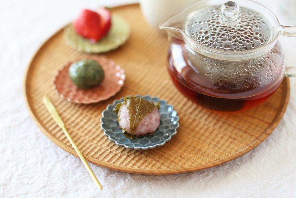 松平彩子/豆皿/青