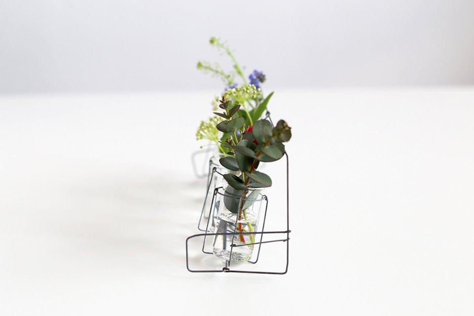 【取り扱い終了】増田由希子/ワイヤー花器(横型の花器)