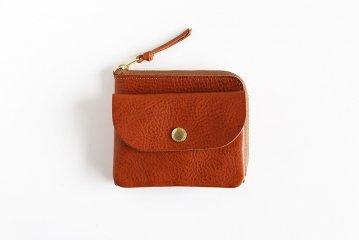 CINQ/小さめの財布(キャメル)