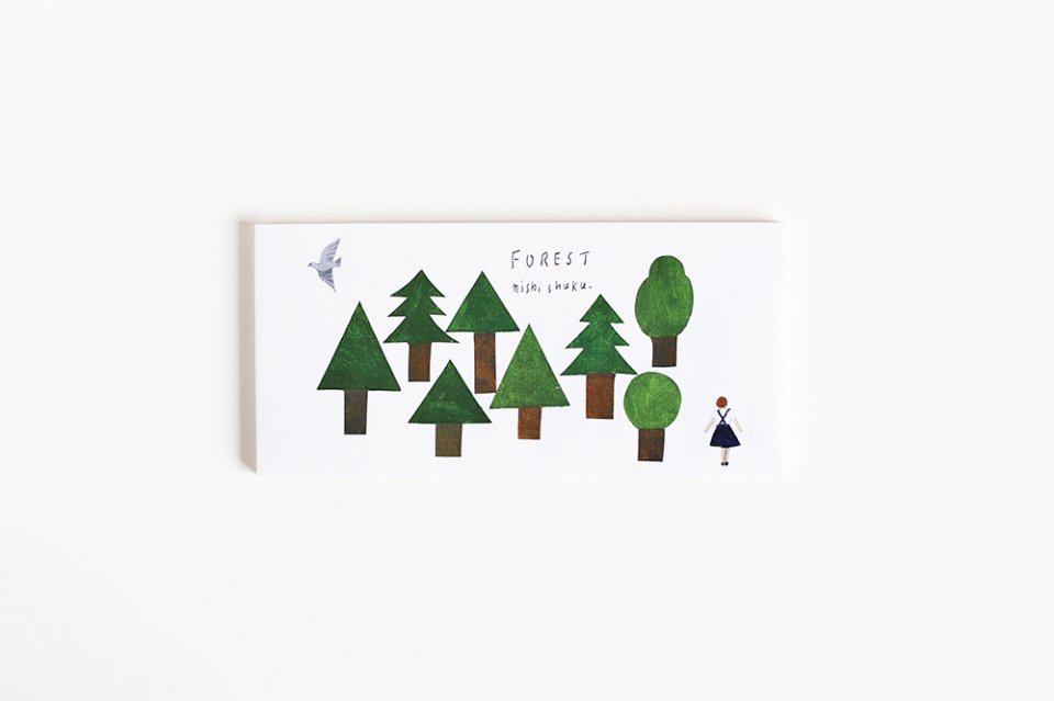 cozyca products/一筆箋/FOREST(4柄×5枚綴り)