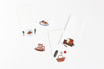 cozyca products/一筆箋/BREAD(4柄×5枚綴り)