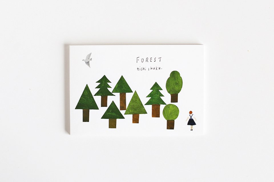 cozyca products/ハガキ箋/FOREST(5柄×2枚綴り)