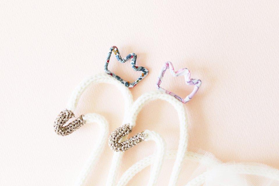 Petit Etoile/ウールレター/Swan(pink)
