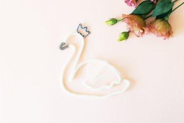Petit Etoile/ウールレター/Swan(Blue)
