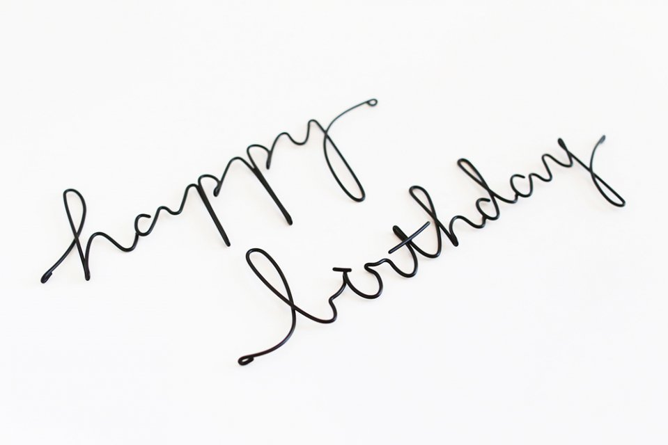 RUNI/レターオブジェ/happy birthday