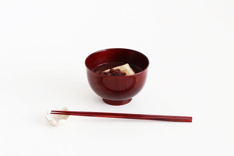 我戸幹男商店/紅桜/さくらの汁碗(朱)
