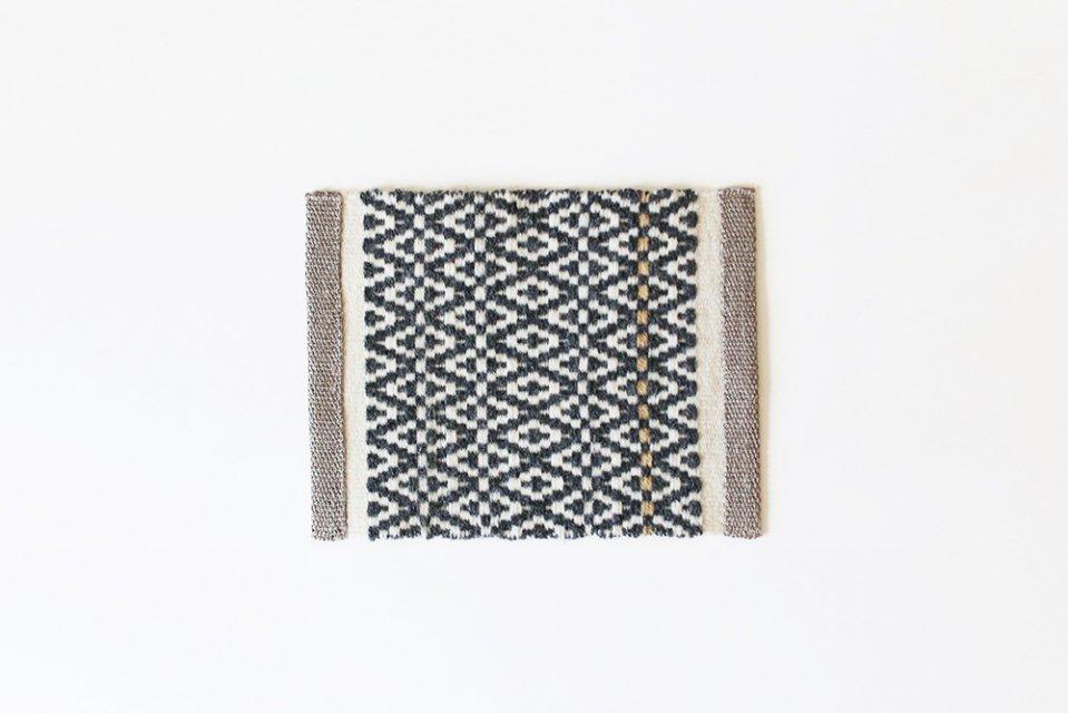 かわちせつこ/ローゼンゴン織りのポットマット(グレー)