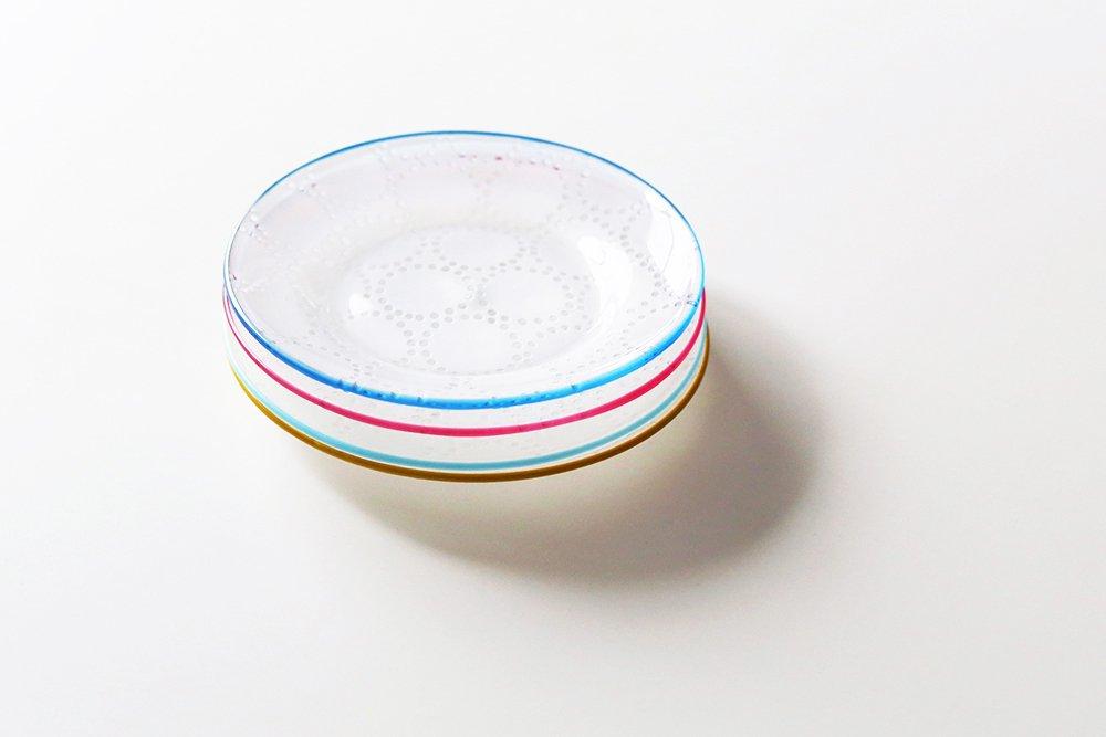平井睦美/Tenn/15cm/ガラスプレート(ブルー)