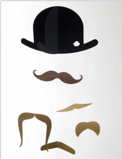<img class='new_mark_img1' src='https://img.shop-pro.jp/img/new/icons23.gif' style='border:none;display:inline;margin:0px;padding:0px;width:auto;' />【70%OFF】Mister Moustache Gold Edition (口ひげのモビール)