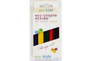 Eco-Kids「エコ・蜜蝋クレヨン(スティック)5色」