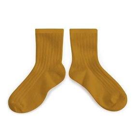 Collegien「La Mini Ribbed Ankle Socks - Moutarde de Dijon」
