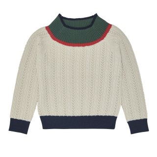 <img class='new_mark_img1' src='https://img.shop-pro.jp/img/new/icons34.gif' style='border:none;display:inline;margin:0px;padding:0px;width:auto;' />【50%OFF】FUB「Cable Blouse (Ecru)」2019-AW