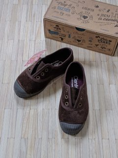 【LAST ONE ONLY SIZE23】Cienta「Deck Shoes (Brown/Velour)」