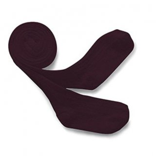 Collegien「Louise Ribbed Tights - Aubergine」