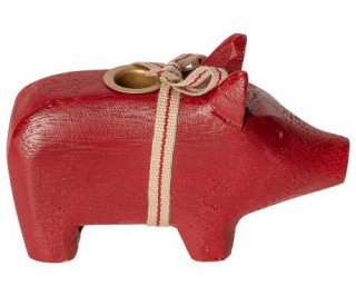 Maileg「Wooden Pig Red」