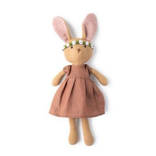 <img class='new_mark_img1' src='https://img.shop-pro.jp/img/new/icons14.gif' style='border:none;display:inline;margin:0px;padding:0px;width:auto;' />HAZEL VILLAGE「Juliette Rabbit in clay linen dress and green flower crown」