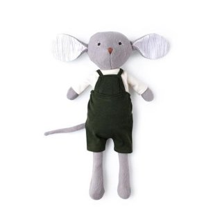<img class='new_mark_img1' src='https://img.shop-pro.jp/img/new/icons14.gif' style='border:none;display:inline;margin:0px;padding:0px;width:auto;' />HAZEL VILLAGE「Oliver Mouse in natural shirt and overalls」