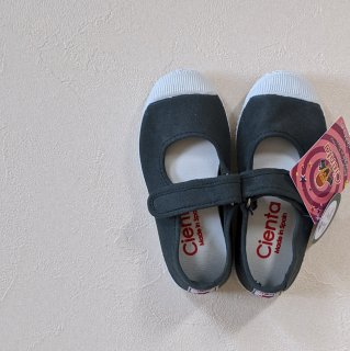 【LAST ONE ONLY SIZE22】Cienta「Velcro One Strap Shoes (Dark Gray)」