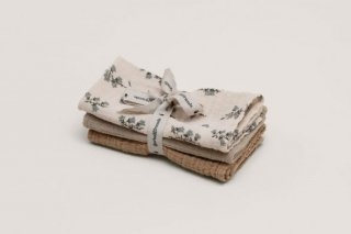 garbo&friends「Bulebell Muslin Burp Cloths 3pcs」
