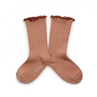 Collegien「Delphine Lettuce Trim Socks - Bois de Rose」
