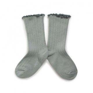 Collegien「Delphine Lettuce Trim Socks - Aigue Marine」