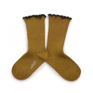 Collegien「Delphine Lettuce Trim Socks - Moutarde de Dijon」